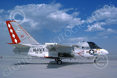S-3USN 00211 A taxing Lockheed S-3A Viking USN VS-30 DIAMOND CUTTERS USS Saratoga 8-1983 military airplane picture by Michael Grove, Sr