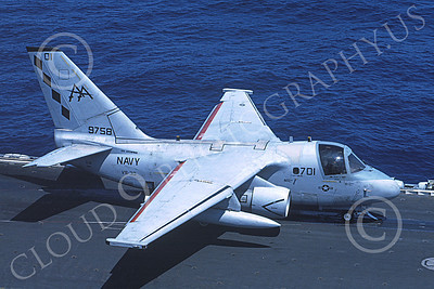 S-3USN 00209 A Lockheed S-3A Viking USN 159758 VS-30 DIAMOND CUTTERS USS Enterprise 5-1996 military airplane picture by Bob Bradley