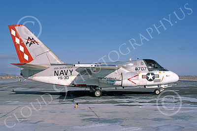 S-3USN 00135 A taxing Lockheed S-3A Viking USN 160151 VS-30 DIAMOND CUTTERS USS Saratoga NAS Fallon 2-1985 military airplane pictures by Michael Grove, Sr