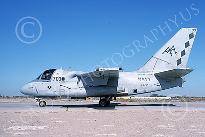 S-3USN 00125 A taxing Lockheed S-3A Viking USN 159731 VS-30 DIAMOND CUTTERS USS Saratoga NAS Fallon 10-1991 military airplane picture by Michael Grove, Sr