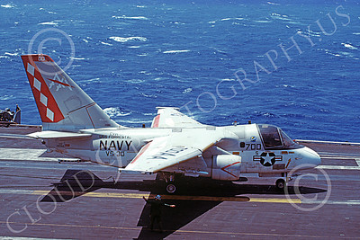 S-3USN 00179 A taxing Lockheed S-3A Viking USN VS-30 DIAMOND CUTTERS USS Forrestal 12-1982, by