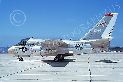 S-3USN 00109 A static Lockheed S-3A Viking USN 160144 VS-30 DIAMOND CUTTERS commanding officer's USS Forrestal NAS Moffett 7-1979 military airplane picture by Michael Grove, Sr