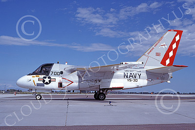 S-3USN 00175 A taxing Lockheed S-3A Viking USN 160147 VS-30 DIAMOND CUTTERS USS Saratoga NAS Fallon 9-1983 military airplane picture by Michael Grove, Sr