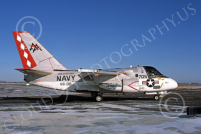 S-3USN 00121 A taxing Lockheed S-3A Viking USN 160143 VS-30 DIAMOND CUTTERS USS Saratoga NAS Fallon 2-1985, by Michael Grove, Sr