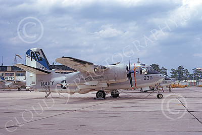 S-2USN 00035 A static Grumman S-2G Tracker USN 153580 VS-31 TOP CATS USS Independence NAS Jax 7-1974 military airplane picture by L B Sides