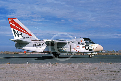 S-3USN 00311 A taxing Lockheed S-3 Viking USN 0127 VS-33 SCREWBIRDS USS America NAS Fallon 11-1978 airplane picture by Michael Grove, Sr