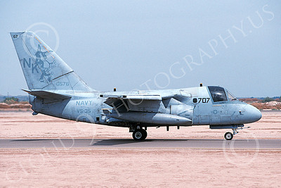 S-3USN 00061 A taxing Lockheed S-3 Viking USN 160576 VS-35 BOOMERANGERS USS Abraham Lincoln NAF El Centro 4-2002 military airplane picture by Michael Grove, Sr