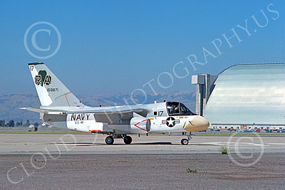 S-3USN 00053 A taxing Lockheed S-3 Viking USN 158871 VS-41 SHAMROCKS NAS Moffett 7-1974 military airplane picture by Michael Grove, Sr