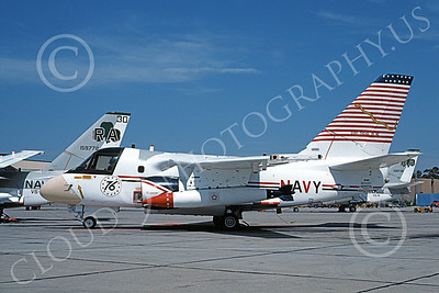 S-3USN 00113 A static Lockheed S-3A Viking USN 160120 VS-41 SHAMROCKS BICENTENNIAL Don't Tread on Me NAS North Island 7-1976 military airplane picture by Michael Grove, Sr