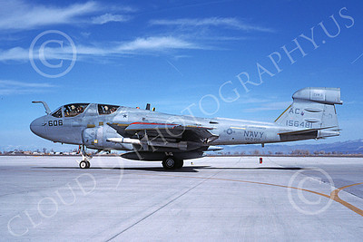 EA-6BUSN 00399 A taxing Grumman EA-6B Prowler USN 156481 VAQ-130 ZAPPERS USS John F Kennedy NAS Fallon 3-1988 military airplane picture by Michael Grove, Sr