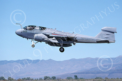 EA-6BUSN 00370 A landing Grumman EA-6B Prowler USN 168524 VAQ-130 ZAPPERS USS Harry S Truman NAS Fallon 6-2000 military airplane picture by Michael Grove, Sr