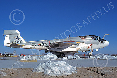 EA-6BUSN 00387 A taxing Grumman EA-6B Prowler USN 160791 VAQ-130 ZAPPERS USS Forrestal NAS Fallon 2-1982 military airplane picture by Michael Grove, Sr