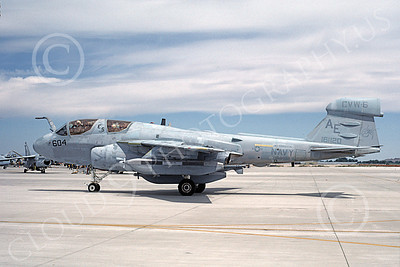 EA-6BUSN 00365 A taxing Grumman EA-6B Prowler USN 161120 VAQ-132 SCORPIONS USS Forrestal NAS Fallon 6-1987 military airplane picture by Michael Grove, Sr