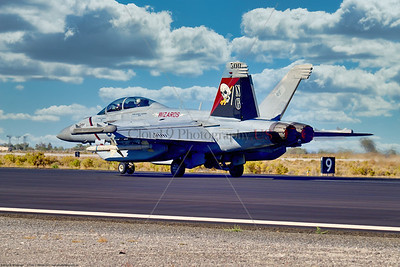 EA-18-USN-VAQ-133 003 A Boeing EA-18G Growler USN electronic attack aircraft, 168376, VAQ-133 WIZARDS, NG tail code, taking off in afterburner on NAS Fallon's runway, 9-2021, military airplane picture by Peter J  Mancus  852_0744  T