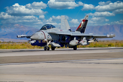 EA-18-USN-VAQ-133 001 A Boeing EA-18G Growler USN electronic attack aircraft, VAQ-133 WIZARDS, NG tail code, on NAS Fallon's runway, 9-2021, military airplane picture by Peter J  Mancus  852_0700  T