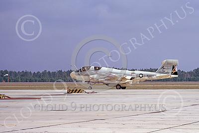 EA-6BUSN 00379 A taxing Grumman EA-6B Prowler USN 158543 VAQ-134 GARUDAS Cecil Field 1-1974 military airplane picture by L B Sides