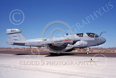 EA-6BUSN 00367 A taxing Grumman EA-6B Prowler USN 160433 VAQ-134 GARUDAS USS Carl Vinson NAS Fallon 6-1989 military airplane picture by Michael Grove, Sr