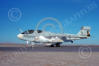 EA-6BUSN 00391 A taxing Grumman EA-6B Prowler USN 158816 VAQ-134 GARUDAS USS Enterprise NAS Fallon 3-1976 military airplane picture by Michael Grove, Sr