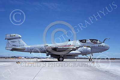 EA-6BUSN 00371 A taxing Grumman EA-6B Prowler USN 162228 VAQ-134 GARUDAS USS Carl Vinson NAS Fallon 6-1989 military airplane picture by Michael Grove, Sr