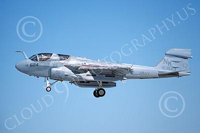 EA-6BUSN 00346 A landing Grumman EA-6B Prowler USN 163523 VAQ-139 COUGARS NAS Fallon 9-1993 military airplane picture by Michael Grove, Sr