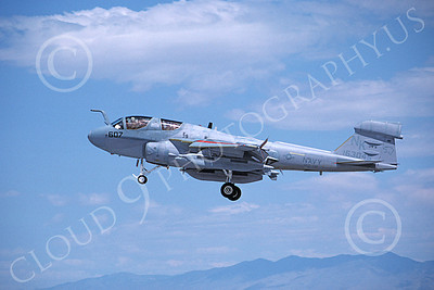 EA-6BUSN 00358 A landing Grumman EA-6B Prowler USN 163045 VAQ-139 COUGARS USS Constellation NAS Fallon 8-1988 military airplane picture by Michael Grove, Sr