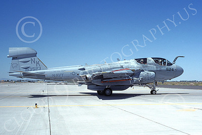 EA-6BUSN 00359 A taxing Grumman EA-6B Prowler USN 163523 VAQ-139 COUGARS USS Carl Vinson NAS Fallon 2-1993 military airplane picture by Michael Grove, Sr