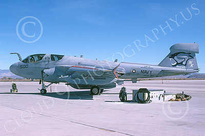 EA-6BUSN 00351 A static Grumman EA-6B Prowler USN 161245 VAQ-139 COUGARS USS Ronald Reagan NAS Fallon 11-2007 military airplane picture by Michael Grove, Sr