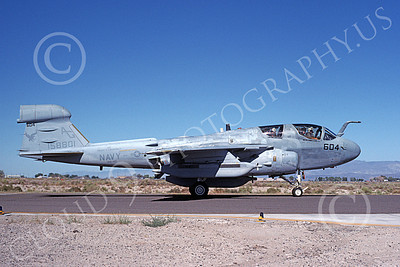 EA-6BUSN 00301 A taxing Grumman EA-6B Prowler USN 158801 VAQ-140 PATRIOTS USS Dwight D Eisenhower NAS Fallon 9-1989 by Michael Grove, Sr