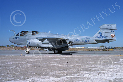 EA-6BUSN 00363 A taxing Grumman EA-6B Prowler USN 163395 VAQ-140 PATRIOTS USS George Washington NAS Fallon 10-1993 military airplane picture by Michael Grove, Sr