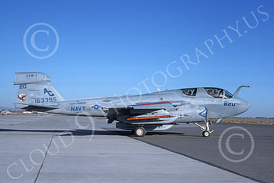 EA-6BUSN 00361 A taxing Grumman EA-6B Prowler USN 163395 VAQ-140 PATRIOTS USS George Washington NAS Fallon 10-1993 military airplane picture by Michael Grove, Sr