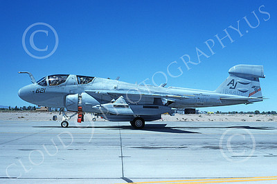 EA-6BUSN 00323 A taxing Grumman EA-6B Prowler USN 164402 VAQ-141 SHADOWHAWKS USS Theodore Roosevelt 11-1994 military airplane picture by Michael Grove, Sr