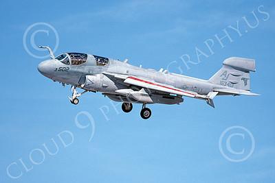 EA-6BUSN 00374 A landing Grumman EA-6B Prowler USN 163401 VAQ-141 SHADOWHAWKS 1-2002 military airplane picture by Michael Grove, Sr