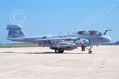 EA-6BUSN 00341 A static Grumman EA-6B Prowler USN 163523 VAQ-142 GRAY WOLVES NAF Washington 7-2005 military airplane picture by Duane Caldwell