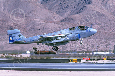 EA-6BUSN 00340 A landing Grumman EA-6B Prowler USN 158650 VAQ-142 GRAY WOLVES Nellis AFB 9-2004 military airplane picture by Michael Grove, Sr