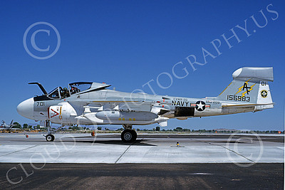 EA-6AUSN 00023 A taxing Grumman EA-6A Prowler USN 156983 VAQ-209 STAR WARRIORS NAS Fallon 7-1981 military airplane picture by Michael Grove, Sr