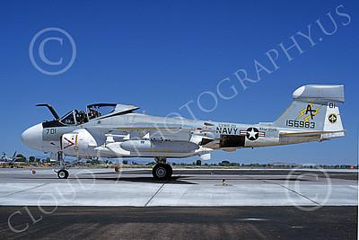 EA-6AUSN 00023 A taxing Grumman EA-6A Prowler USN 156983 VAQ-209 STAR WARRIORS NAS Fallon 7-1981 military airplane picture by Michael Grove, Sr