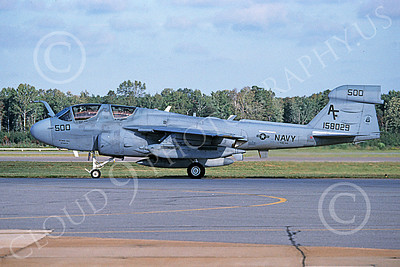 EA-6BUSN 00393 A taxing Grumman EA-6B Prowler USN 158029 VAQ-209 STAR WARRIORS 10-2004 military airplane picture by David F Brown