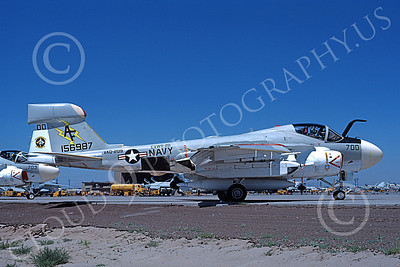 EA-6AUSN 00017 A taxing Grumman EA-6A Prowler USN 156987 VAQ-209 STAR WARRIORS commanding officer's NAS Fallon 6-1979 military airplane picture by Michael Grove, Sr