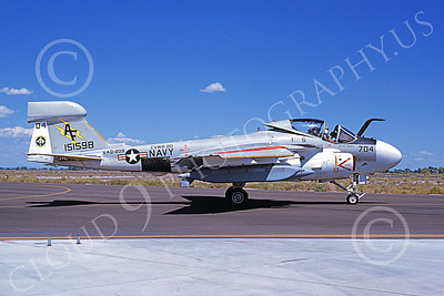 EA-6AUSN 00018 A taxing Grumman EA-6A Prowler USN 151598 VAQ-209 STAR WARRIORS NAS Fallon 8-1984 military airplane picture by Michael Grove, Sr
