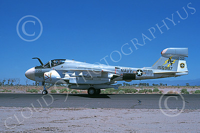 EA-6AUSN 00022 A taxing Grumman EA-6A Prowler USN 156983 VAQ-209 STAR WARRIORS commanding officer's NAS Fallon 6-1979 military airplane picture by Michael Grove, Sr
