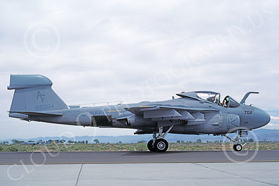 EA-6AUSN 00020 A taxing low vis gray Grumman EA-6A USN 156984 VAQ-209 STAR WARRIORS NAS Fallon 5-1986 military airplane picture by Michael Grove, Sr