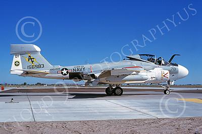 EA-6AUSN 00021 A taxing Grumman EA-6A Prowler USN 156983 VAQ-209 STAR WARRIORS NAS Fallon 7-1981 military airplane picture by Michael Grove, Sr