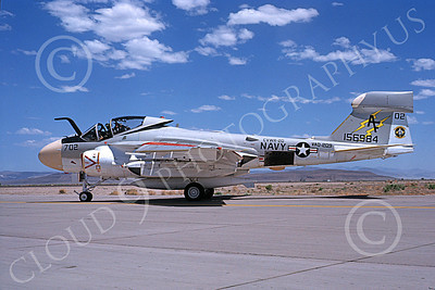 EA-6AUSN 00019 A taxing Grumman EA-6A USN 156984 VAQ-209 STAR WARRIORS NAS Fallon 6-1979 military airplane picture by Michael Grove, Sr