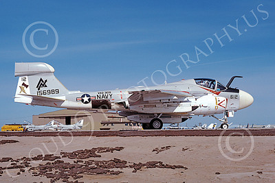 EA-6AUSN 00027 A taxing Grumman EA-6A Prowler USN 156989 VAQ-309 AXEMEN NAS Fallon 5-1980 military airplane picture by Michael Grove, Sr