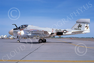 EA-6AUSN 00025 A taxing Grumman EA-6A Prowler USN 156991 VAQ-309 AXEMEN commanding officer's NAS Fallon 5-1980 military airplane picture by Michael Grove, Sr