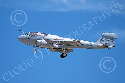 EA-6BUSN 00302 A landing Grumman EA-6B Prowler USN 161350 VAQ-309 AXEMEN 8-1993 military airplane picture by Michael Grove, Sr