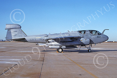 EA-6BUSN 00327 A static Grumman EA-6B Prowler USN 161350 VAQ-309 AXEMEN NAF Washington 12-1991 military airplane picture by Eric Tooney