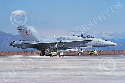 McDonnell Douglas F-18A-USN 00053 A static McDonnell Douglas F-18A Hornet USN 161736 VAQ-34 FLASHBACKS NAS Fallon 4-1992 military airplane picture by Maurice Bertrand