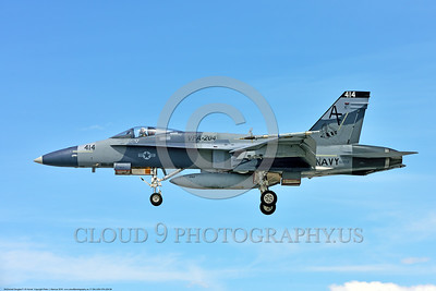 F-18A-USN-VFA-204 0006 A McDonnell Douglas F-18A Hornet USN 162859 adversary VFA-204 RIVER RATTLERS lands at NAS Fallon after a training mission 4-2016 military airplane picture by Peter J  Mancus