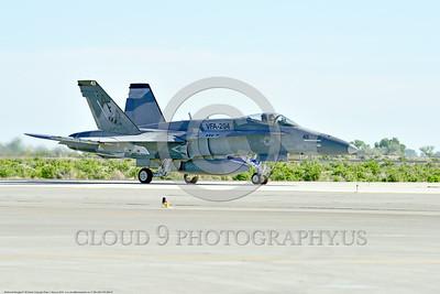 F-18A-USN-VFA-204 0001 A McDonnell Douglas F-18A Hornet USN adversary VFA-204 RIVER RATTLERS taxis for take-off at NAS Fallon 4-2016 military airplane picture by Peter J  Mancus